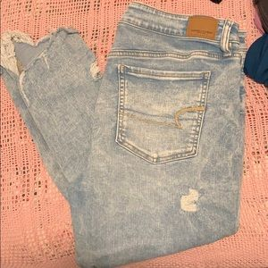 Distressed AE jegging